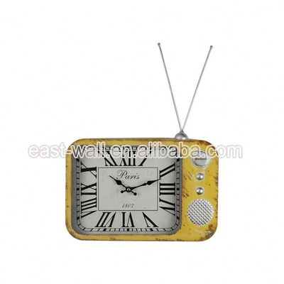 Design Retro Mdf Wall Frozen Clock Home Decor TV Shaped