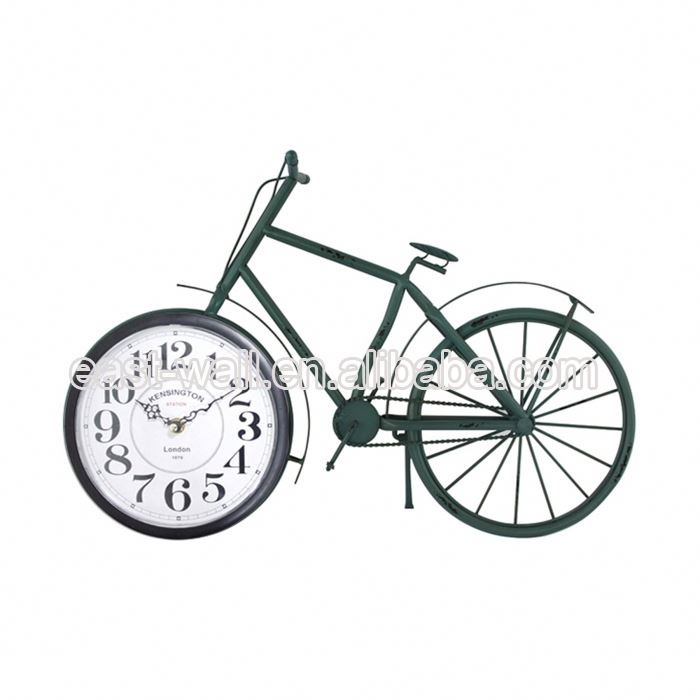 High Quality Design Vintage Simple Desktop Bicycle Hands Large Clock