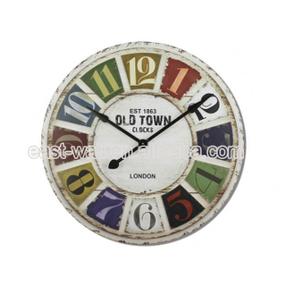 Reasonable Price New Design Iron Oil Painting Clock Wall Decal