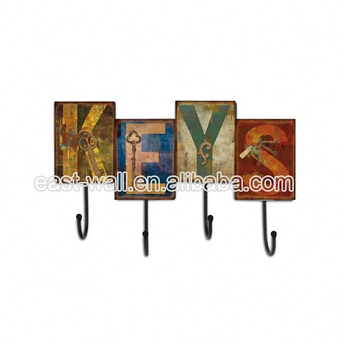 2019 Durable Iron Metal Wall Hanging Hook Holder Home Decor Vintage Hooks Hanger Design Coat Hanging Decorative Clothes Hooks