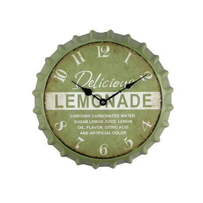 2018 Hot New Arrival Bottle Cap Style Modern Decorative Wall Clock