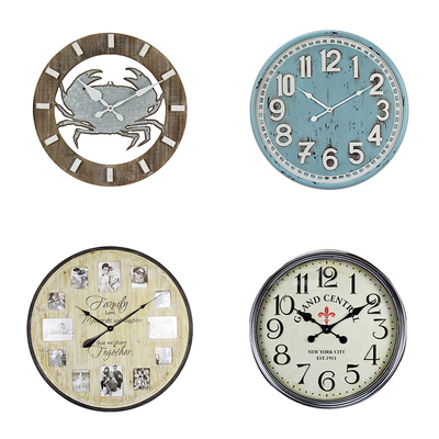 New Fashion Style Wooden Wall Clock Modern Design Modern Decorative Antique Wall Clock