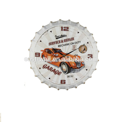 2018 New Arrival Customized Design Color Bottle Caps Custom Roles Metal Clock
