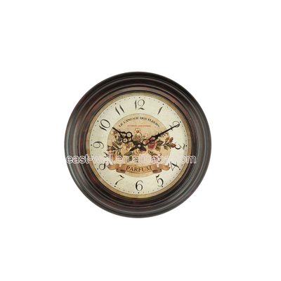 Wholesale Custom Antique Style Railway Station Metal Clock