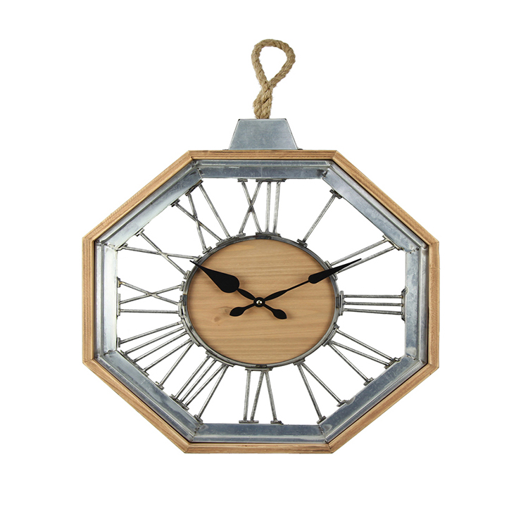 Octagon Wall Decor With Clock