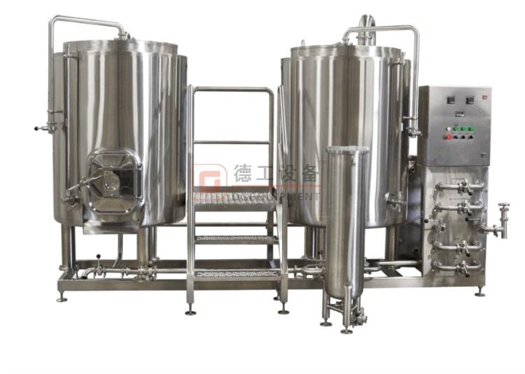 Equipo de elaboración de cerveza de 2 recipientes