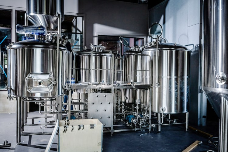 1000 Litre brewery equipment 3-vessel beer brewhouse