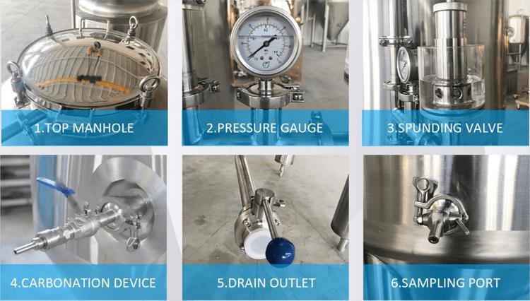 accessoreis on fermentation tank