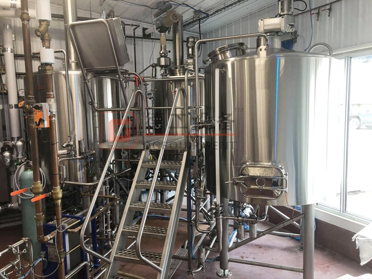 1000L 3 vessels stainless steel steam heated beer brewhouse