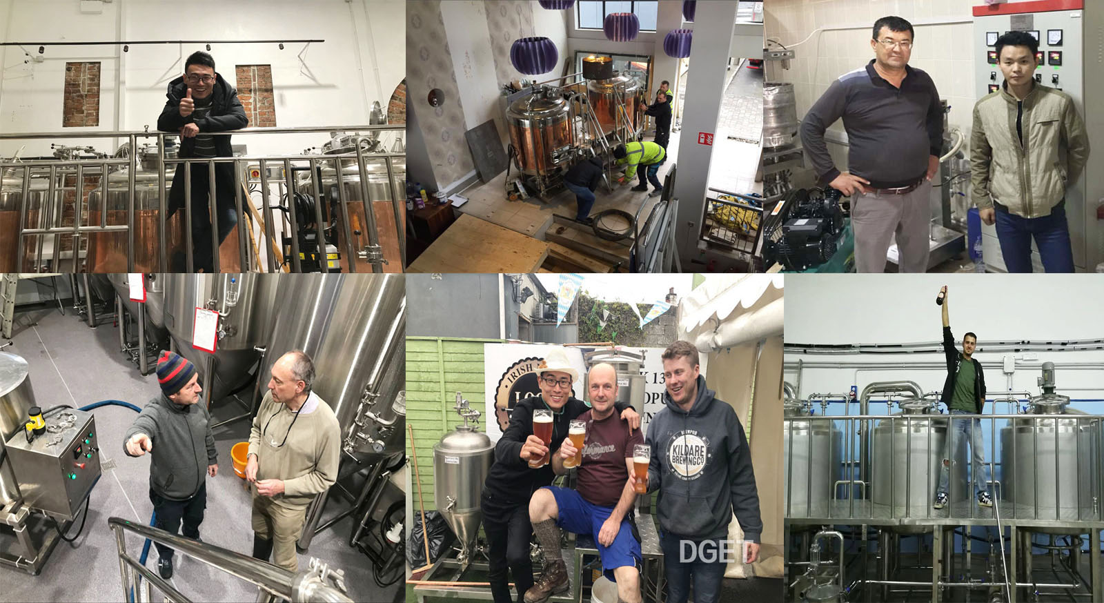 Install equipoment in Ireland and Italy for 1000L beer brewing equipment