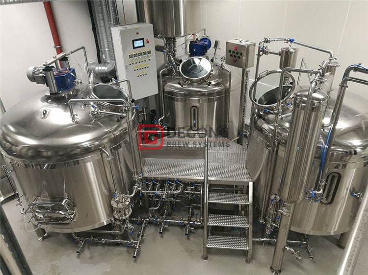 3 vessels commercial beer brewery equipment