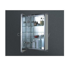Decorative Stainless steel LED Mirror cabinet