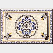 Flower Parquet Polished Golden Crystal Porcelain Floor Ceramic Carpet Tile 1200x1800mm