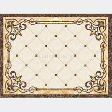 Polished Golden Crystal Porcelain Floor Ceramic Carpet Tile 1200x1800mm
