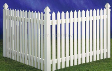 PVC FENCE TRADITIONAL STRIGHT