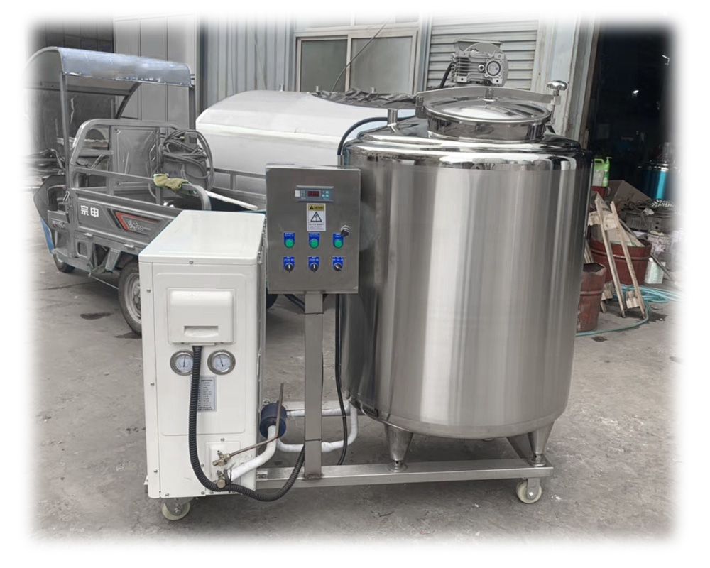 Small Scale Fresh Milk Cooler Milk Cooling Tank