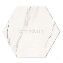 Carrara color Hexagonal Brick Ceramic Tile 692*800mm