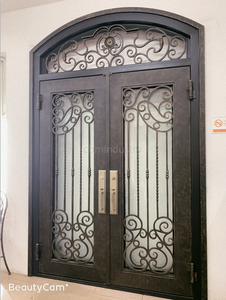 Pedestrian Wrought iron double entry main gate design