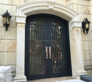 Modern Style Large Western Luxury Wrought Main iron entry gatedesign