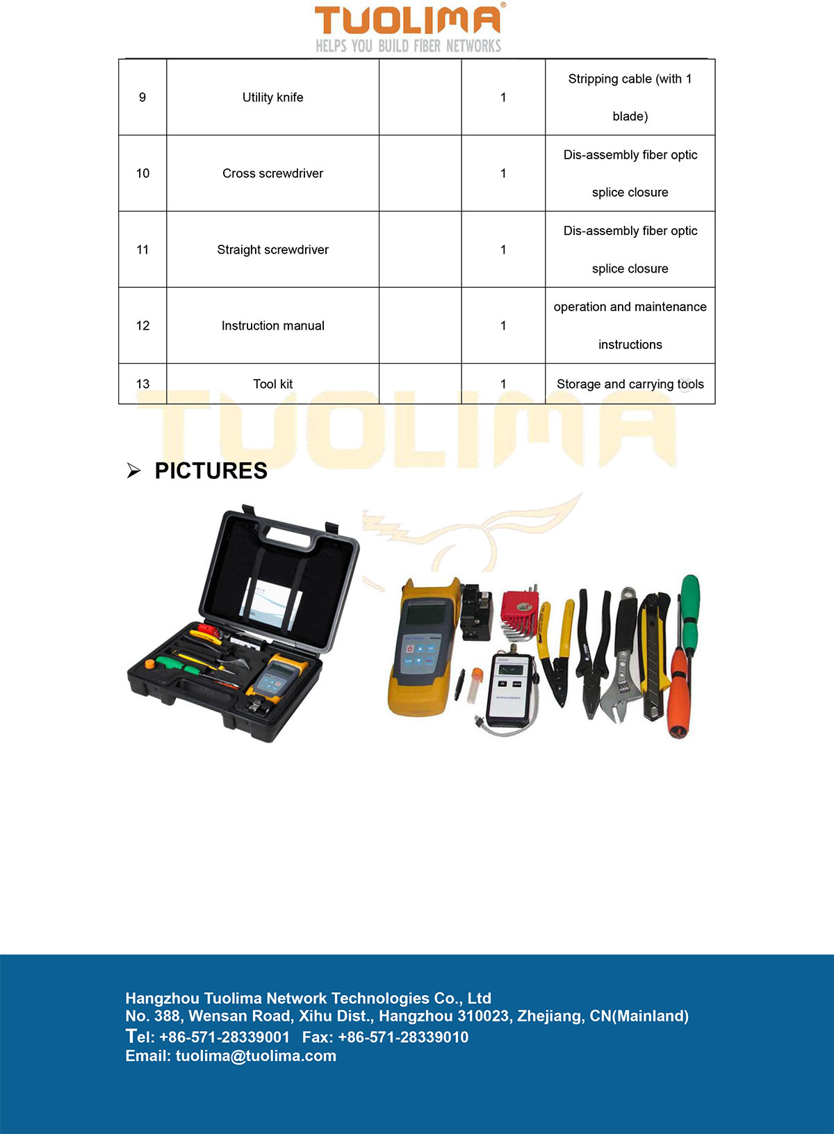 Tlm5003 Cable Inspection Amp Maintenance Tool Kits Buy