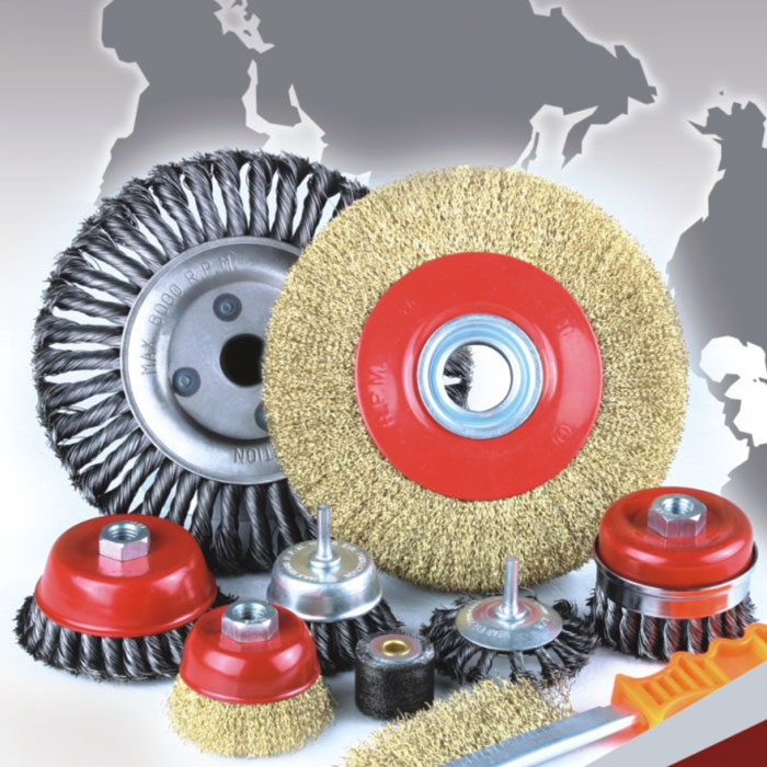 Shaft Circular Crimped Wire Brush, 8213 Series