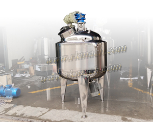 Cream Storage Tank with Agitator And Bottom Emulsifier G-SD series SS storage tank
