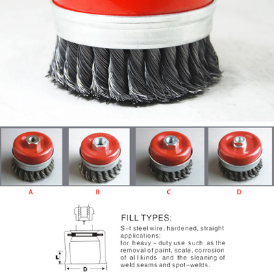 Cup Knotted Twist Wire Brush, 8202 Series