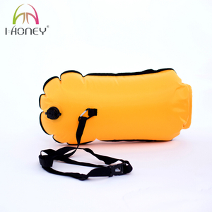 Dual Airbag Strap Handle Bright Color Swim Safety Buoy Dry Bag